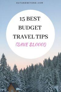 15 best budget travel tips that will help you save money traveling. These budget travel hacks will help you master budget traveling while you are backpacking, on a honeymoon, or families and road trips. Budget tip number 2 will save you money while getting an upgraded car rental! #budgettravelhacks #budgettravel tips #savemoneytraveling