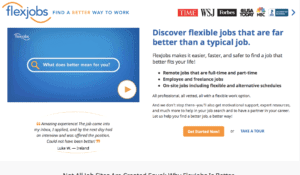 location independent jobs advertised with FlexJobs