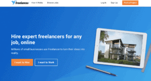 location independent jobs advertised with Freelancer