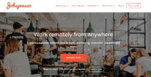 Digital nomad careers advertised on Jobspresso