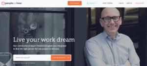 digital nomad jobs for beginners advertised on Peopleperhour