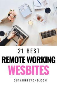 Here are 21 remote work from jobs websites hiring now! Begin your remote working journey and find your perfect remote working jobs so you can work from home and make extra money. Best work from home jobs for moms. #workingremote #remoteworkingtips #remotejob