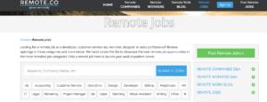 Digital nomad careers advertised on Remote Co