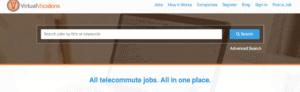 Digital nomad careers advertised on Virtual Vocations