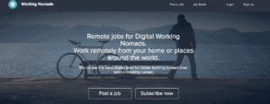 How to make money as a nomad by applying for a job on Working Nomads