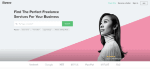 digital nomad jobs for beginners advertised on Fiverr