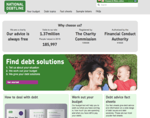 Reduce credit card debt by contacting the national debt line