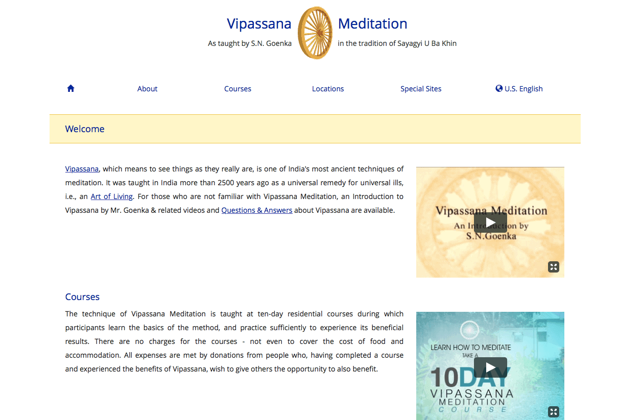 Find a place to stay for free at Vipassana Meditation Centre