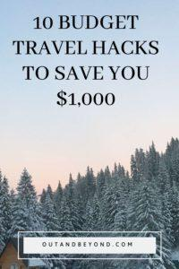 10 secret budget travel hacks to save you $1,000 when you travel. Learn budget travel tips and tricks to get free accomodation when you travel. Save money traveling and travel to your favourite travel destinations and tick off your travel bucket list without breaking the bank! Perfect for those traveling on a budget. #budgettravelhacks #savemoneytraveling #budgettravel #cheaptravel