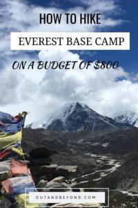 Hike Everest Base Camp on a budget of only $800! Learn how to master budget travel while doing the everest base camp trek using this effective guide. #everestbasecamp #budgettravel #everestbasecamptrek