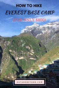 Hike Everest Base Camp on a budget of only $800! Learn how to master budget travel while doing the everest base camp trek using this effective guide. Save money traveling hiking up to Everest Base Camp. and #everestbasecamp #budgettravel #everestbasecamptrek #savemoneyling #travelingonabudget