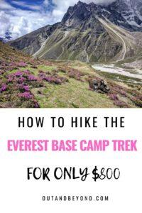 How to hike Everest Base Camp on a budget of only $800! Master budget travel while doing the Everest Base Camp trek using this effective guide and budget travel tips. Save money traveling while hiking Everest Base Camp #everestbasecamp #budgettravel #everestbasecamptrek #budgettravel #savemoneytraveling