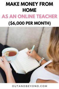 Make money from home as an online teacher. Perfect side hustle for a stay at home mom. A legitimate online job that can earn you cash from the comfort of your own home! #wahm #sidehustle #onlinejobs