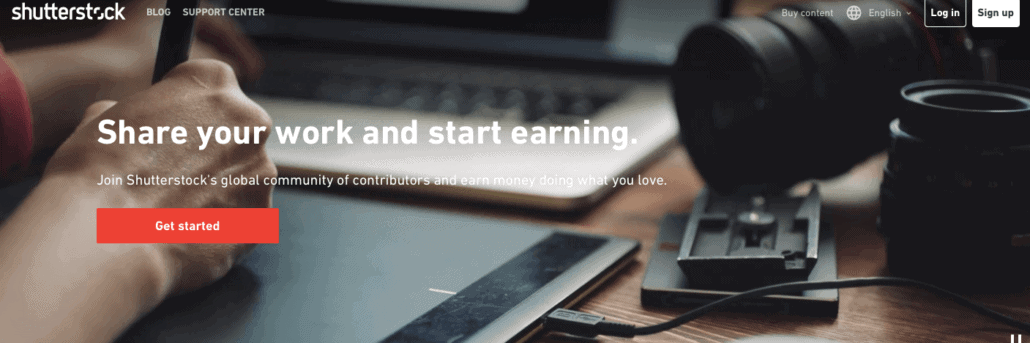 Make money right now with shuttershock