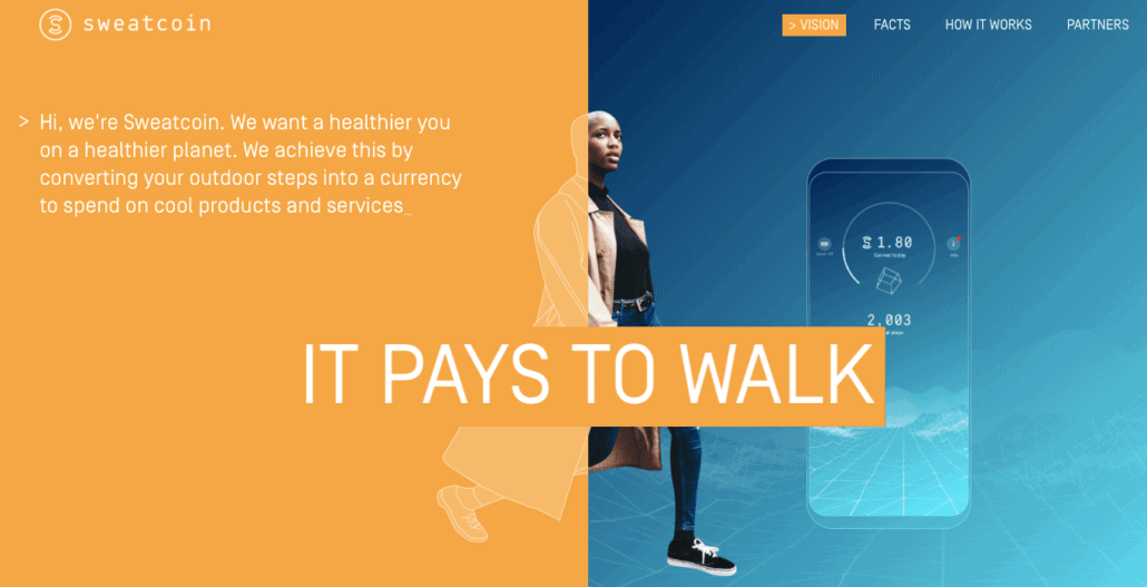 make money now with Sweatcoin