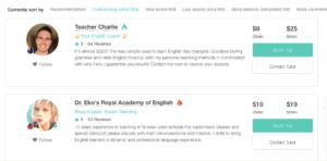 Profiles of outstanding tutors teaching online