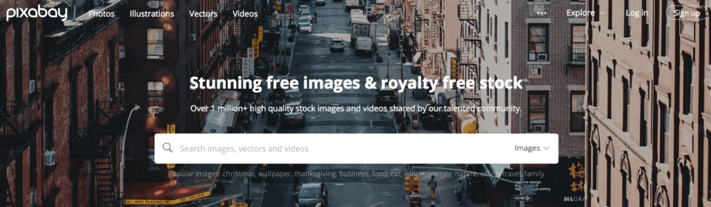 use pixabay to help you find free images