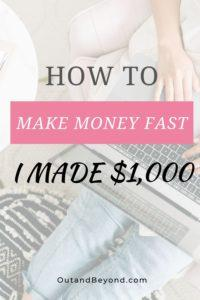 Learn how to make money fast, and earn extra cash, online, at home using these 6 simple tips. Perfect for college students and work at home moms. Pay off debt fast and earn a passive income #extracash