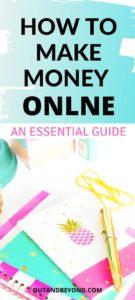 An essential guide on how to make money online, the jobs you can do to earn money online and work from home. Best make money online jobs for beginners needing extra cash and earn a passive income from home. #makemoneyonline #wfh #stayathomejobs