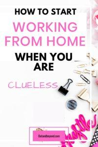 Do you want to work from home but don't know where to start or how to begin? Here is a simple 6-step guide that will show you how to work from home and make extra money full time or with kids. Perfect guide for stay at home moms #workfromhomejobs #workfromhome #stayathomemom