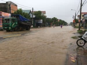 Motorbike in Vietnam floods