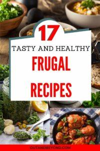Do you want to eat healthy, tasty food but you are broke ? Here are 17 healthy, easy, homemade frugal recipes for those with large families and perfect for kids. Cheap easy dinners which also include vegetarian options. Perfect for busy stay at home moms who need money saving tips for cooking . #frugal recipes #frugalliving #frugallivingtips #stayathomemoms #moneysavingtips