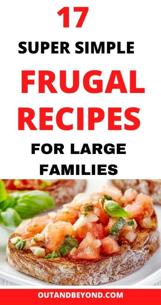 FRUGAL RECIPES FOR LARGE FAMILIES 5
