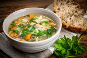 frugal recipe -chicken and rice soup