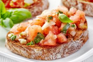 Frugal recipes tomato bruchetta