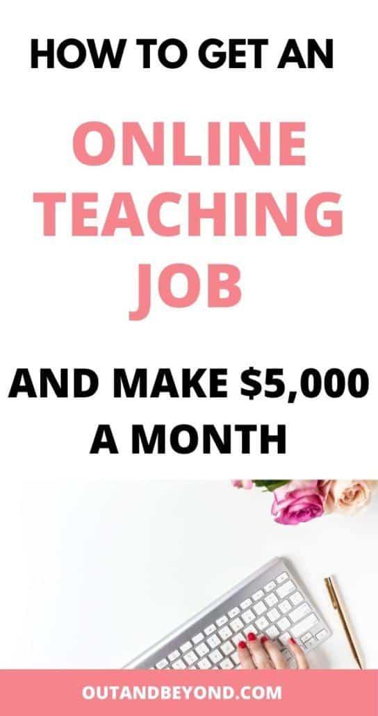 HOW TO GET AN ONLINE TEACHING JOB 2