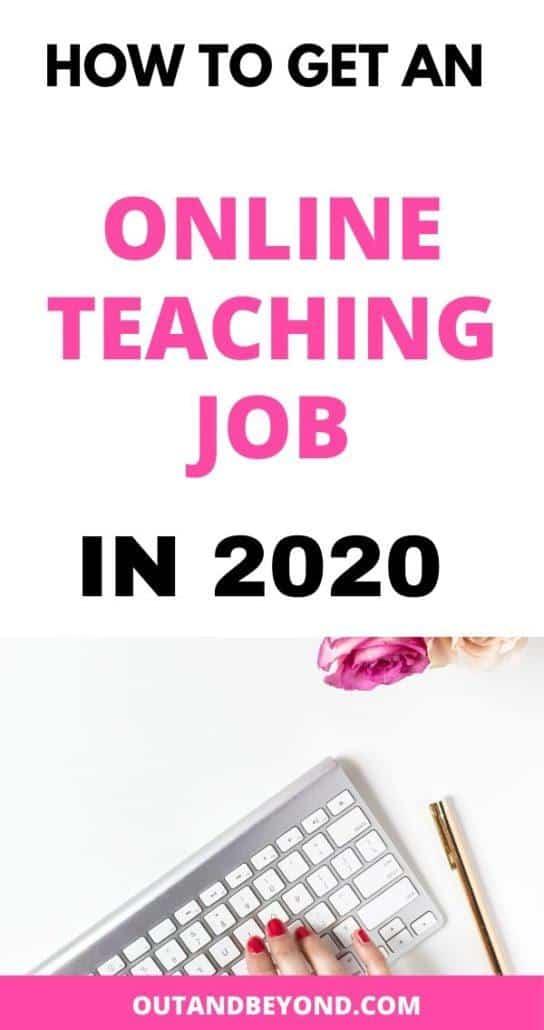 HOW TO GET AN ONLINE TEACHING JOBS
