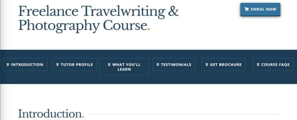 travel writing courses NZIB