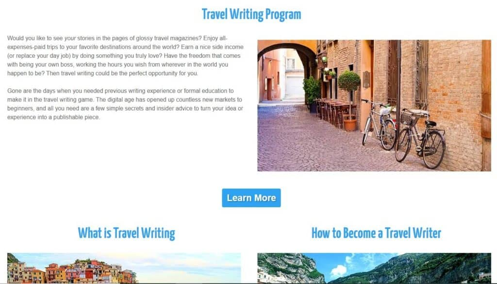 travel writing courses great escape