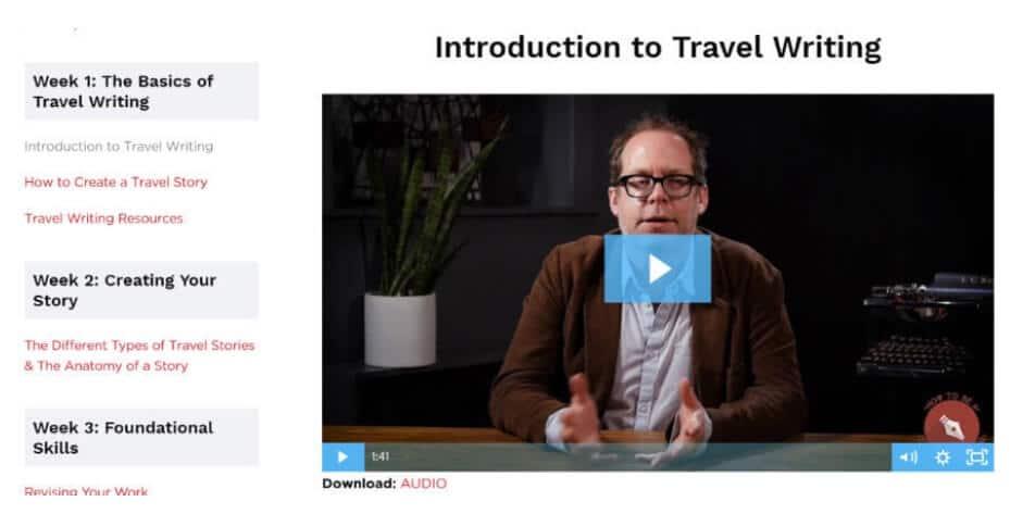 travel writing courses nomadicmatt