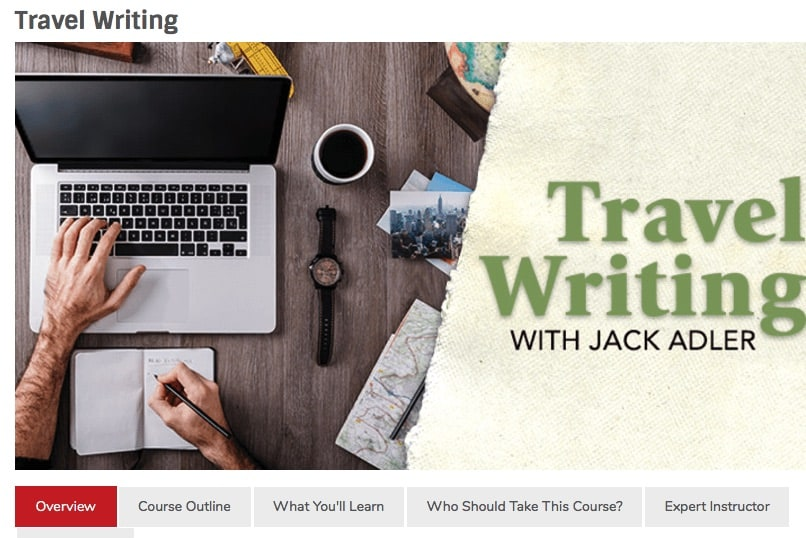 travel writing with jack adler