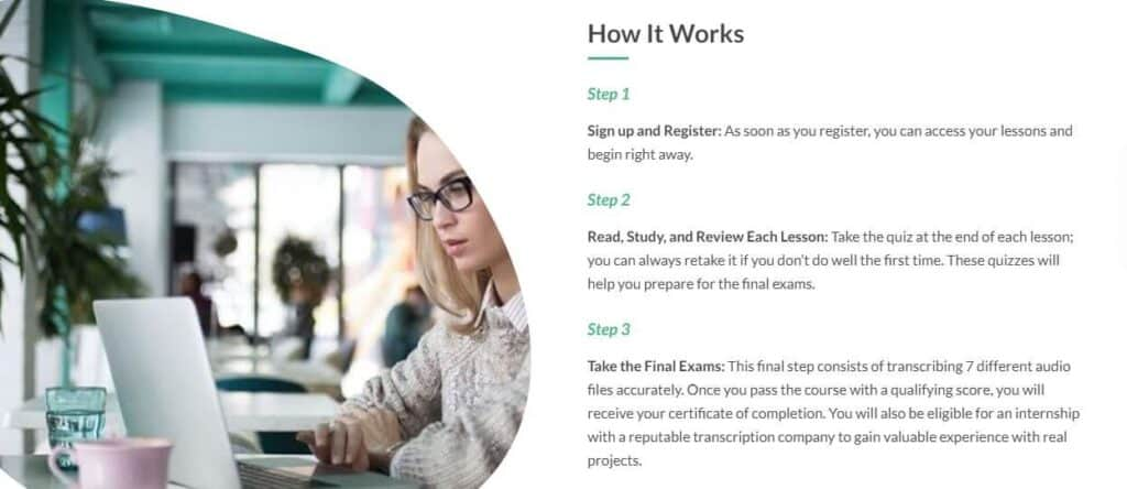 become a transcriptionist with TCI