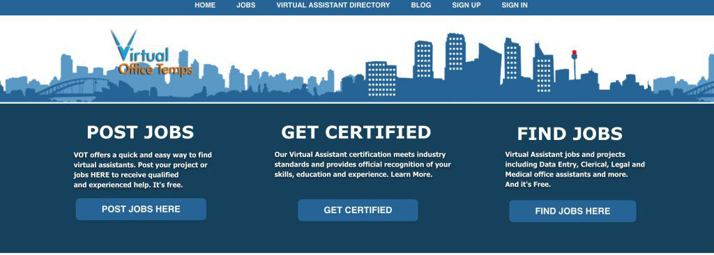virtual office temps