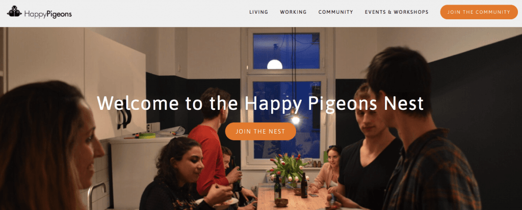 Coliving in Berlin at happy pigeons
