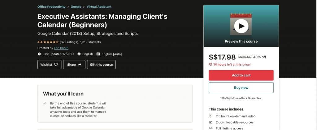 executive virtual assistant course