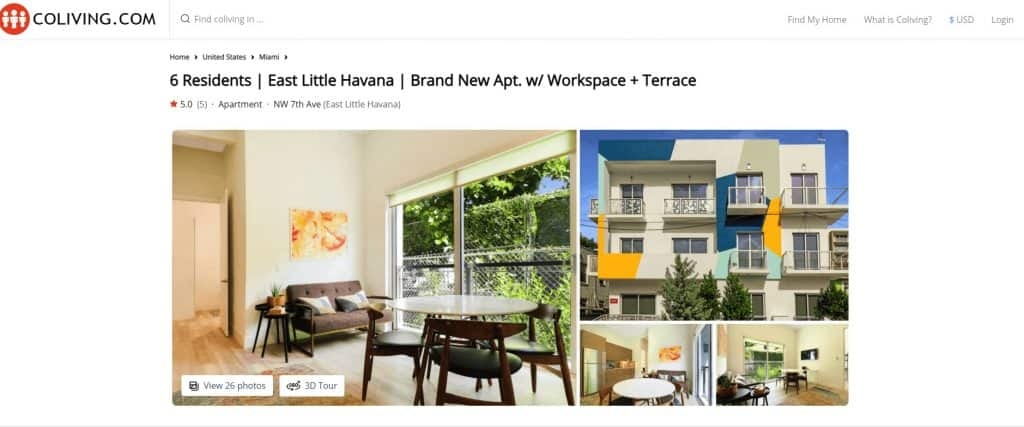 Coliving in Miami at Aerie East Little Havana