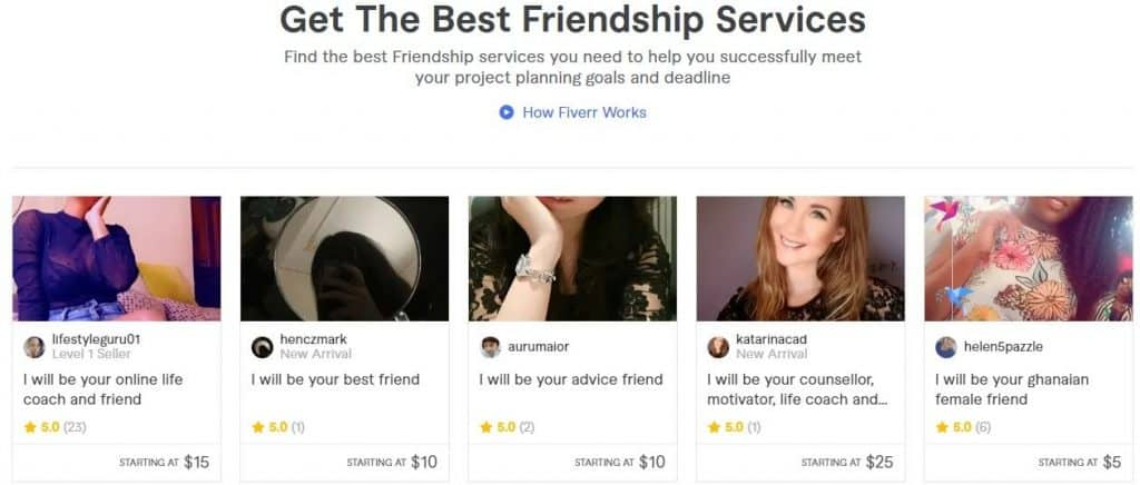 get paid to be an online friend uk