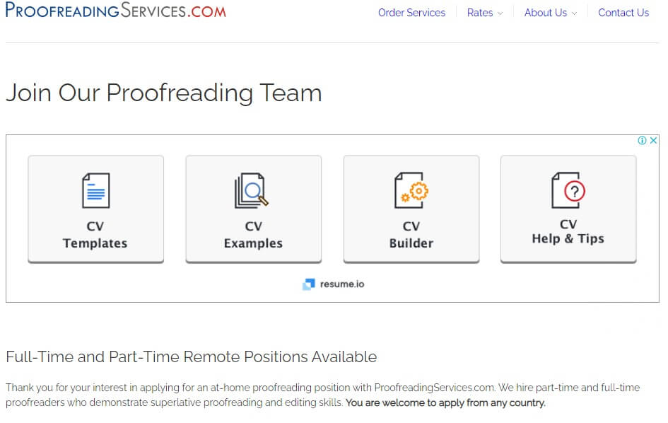 Proofreading companies