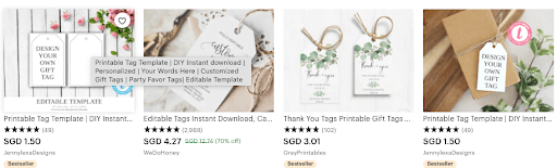 digital products to sell on Etsy