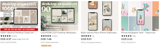 top-selling digital products on Etsy